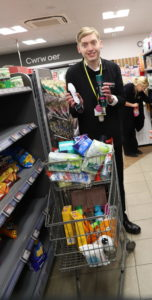 Tom on work placement at Spar