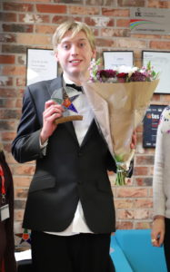 Tom recently won the Badge Making Competition at Skills Live @Derwen